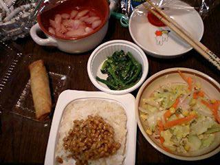 痔主のトメちゃんのブログ-今日の晩御飯090330